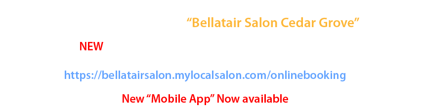 Bellatair Salon Full Service Hair Salon Cedar Grove New